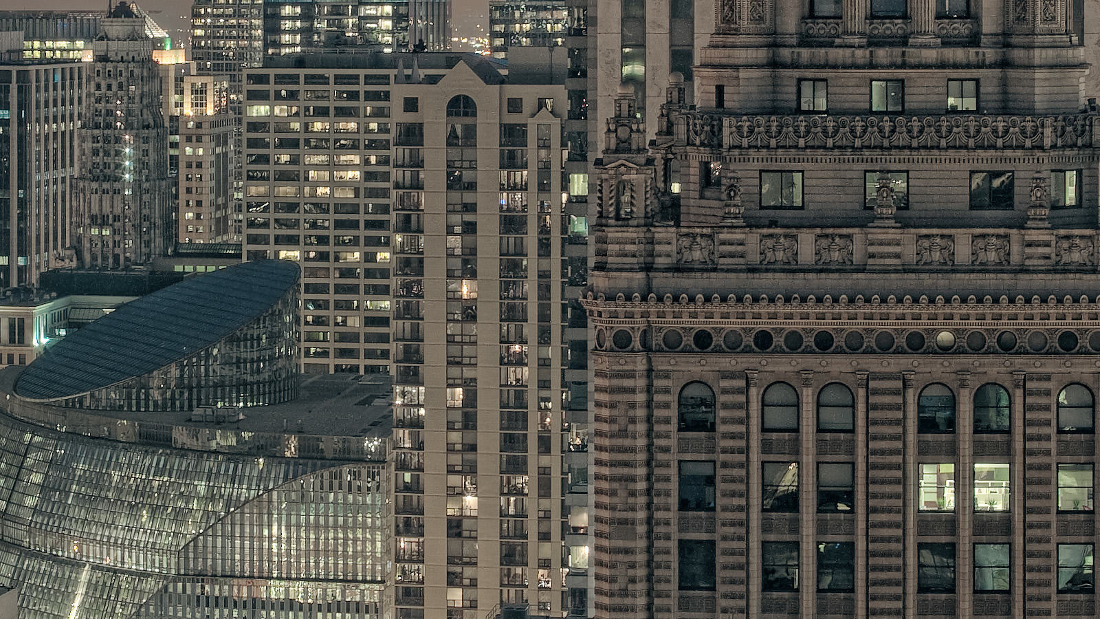 Sears Tower Chicago Skyline. Close up detail of this high resolution cityscape Fine Art Print.