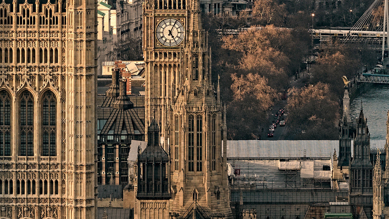 Sunlit London Detail - Big Ben and the Houses of Parliament. London Fine Art Photo.