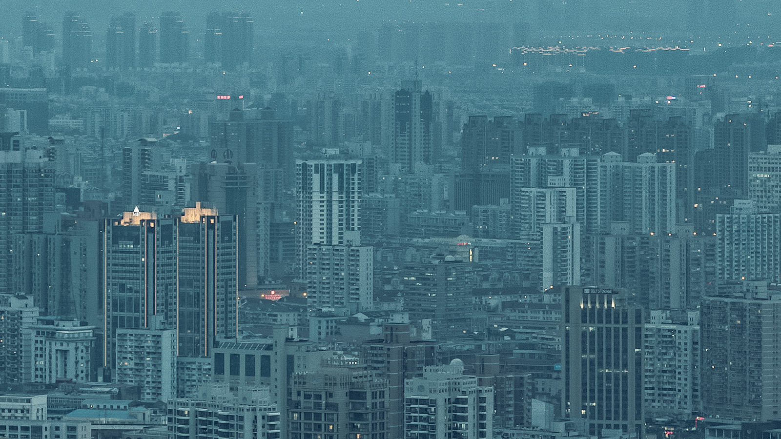 Pudong View Detail - Shanghai High Resolution Cityscape by Will Pearson
