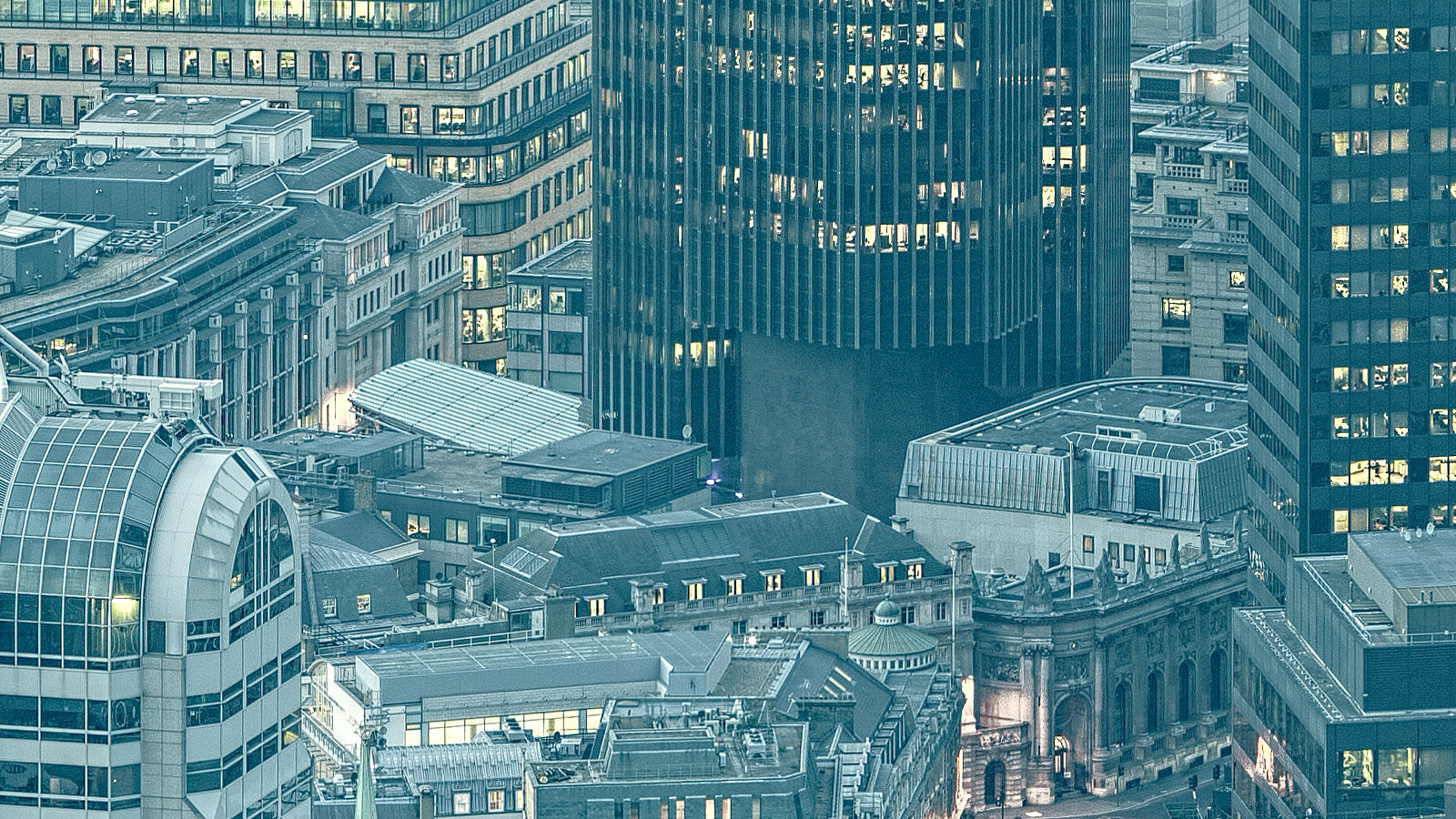 Infinitely London Detail - Close up of rooftops of the City of London in this high resolution London Cityscape Fine Art Print.