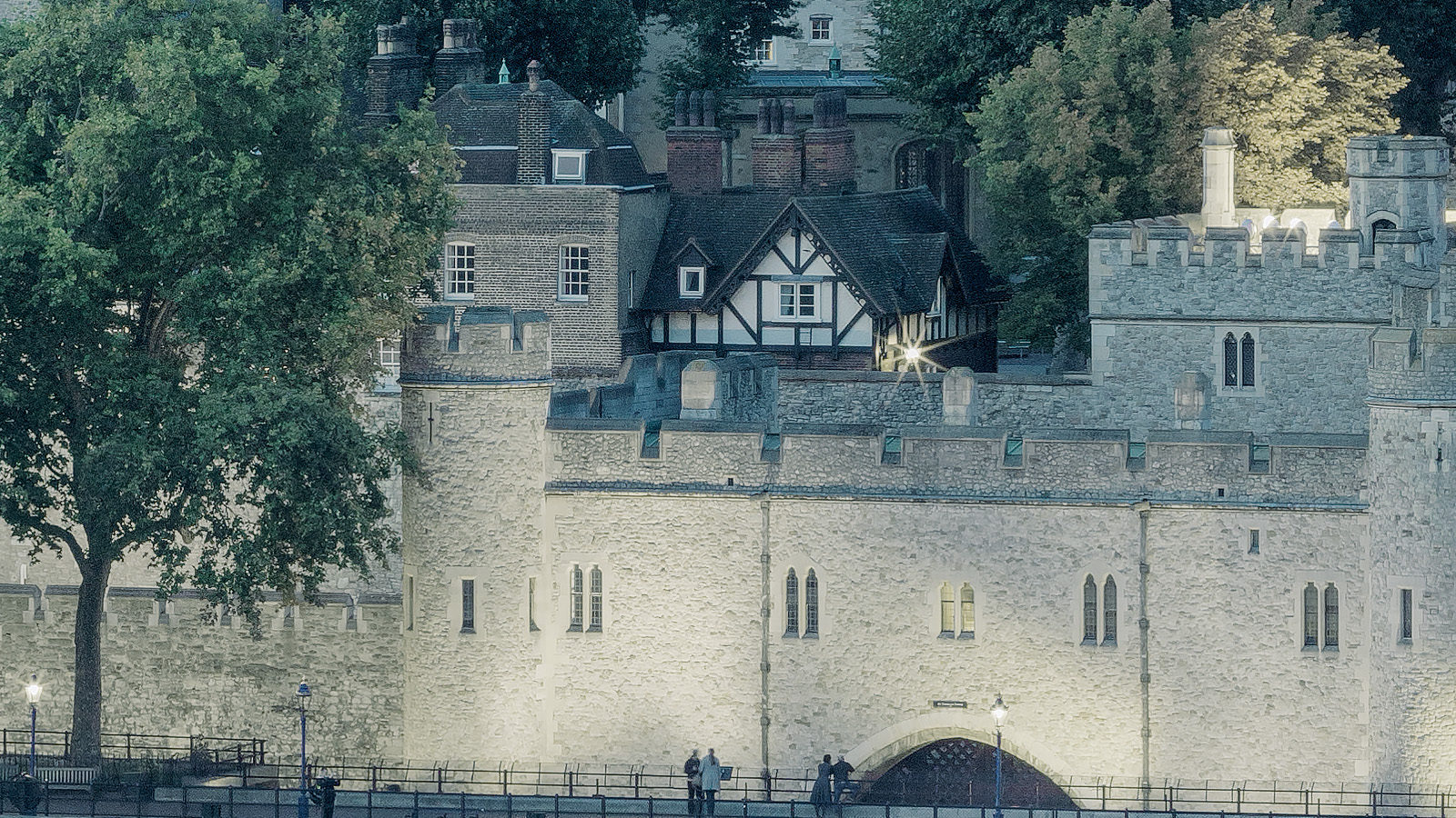 Constant Thames - Detail of the Tower of London. High-Res London Cityscape Fine Art Print.