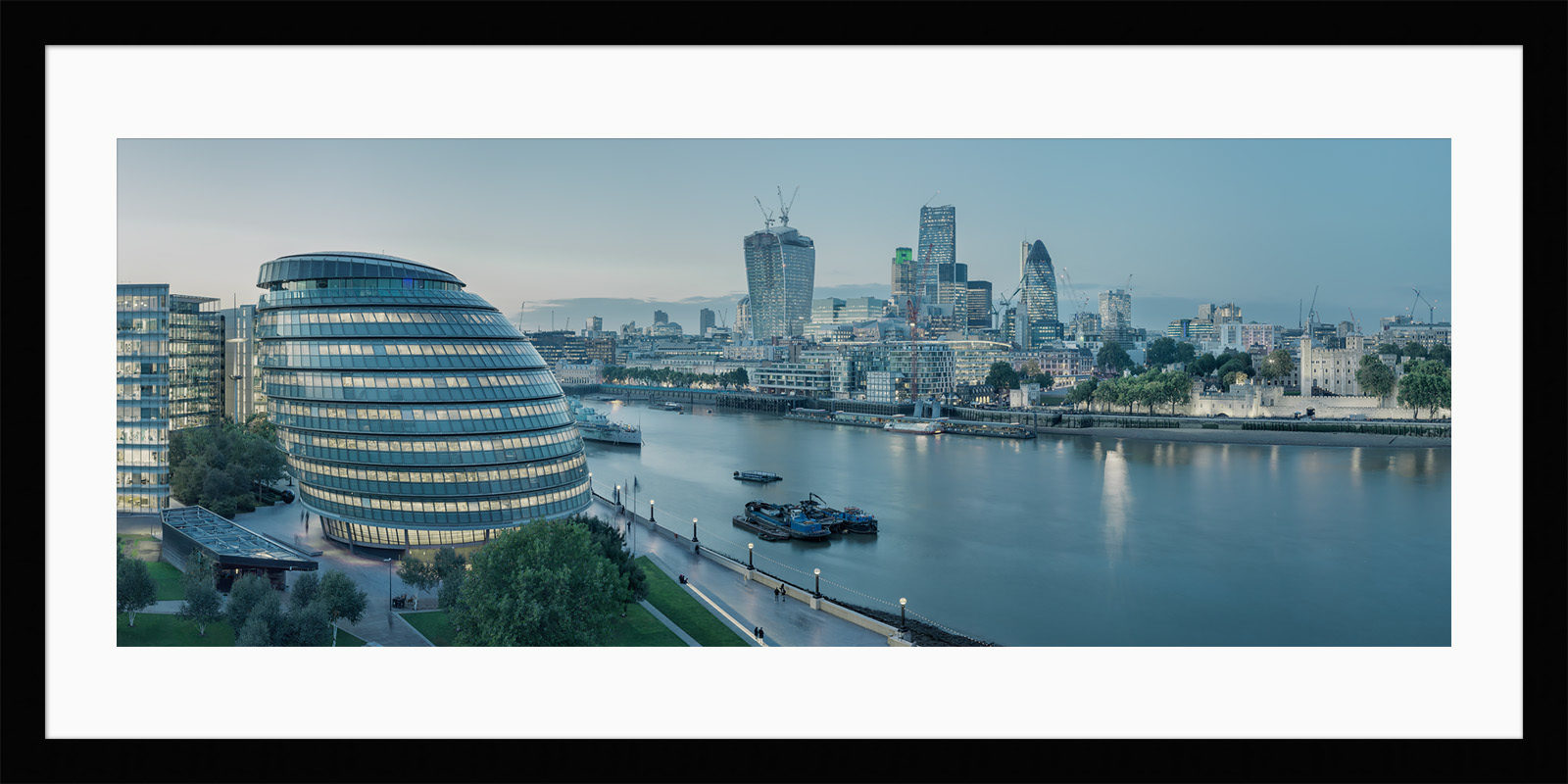 Constant Thames - Framed London Fine Art Photograph