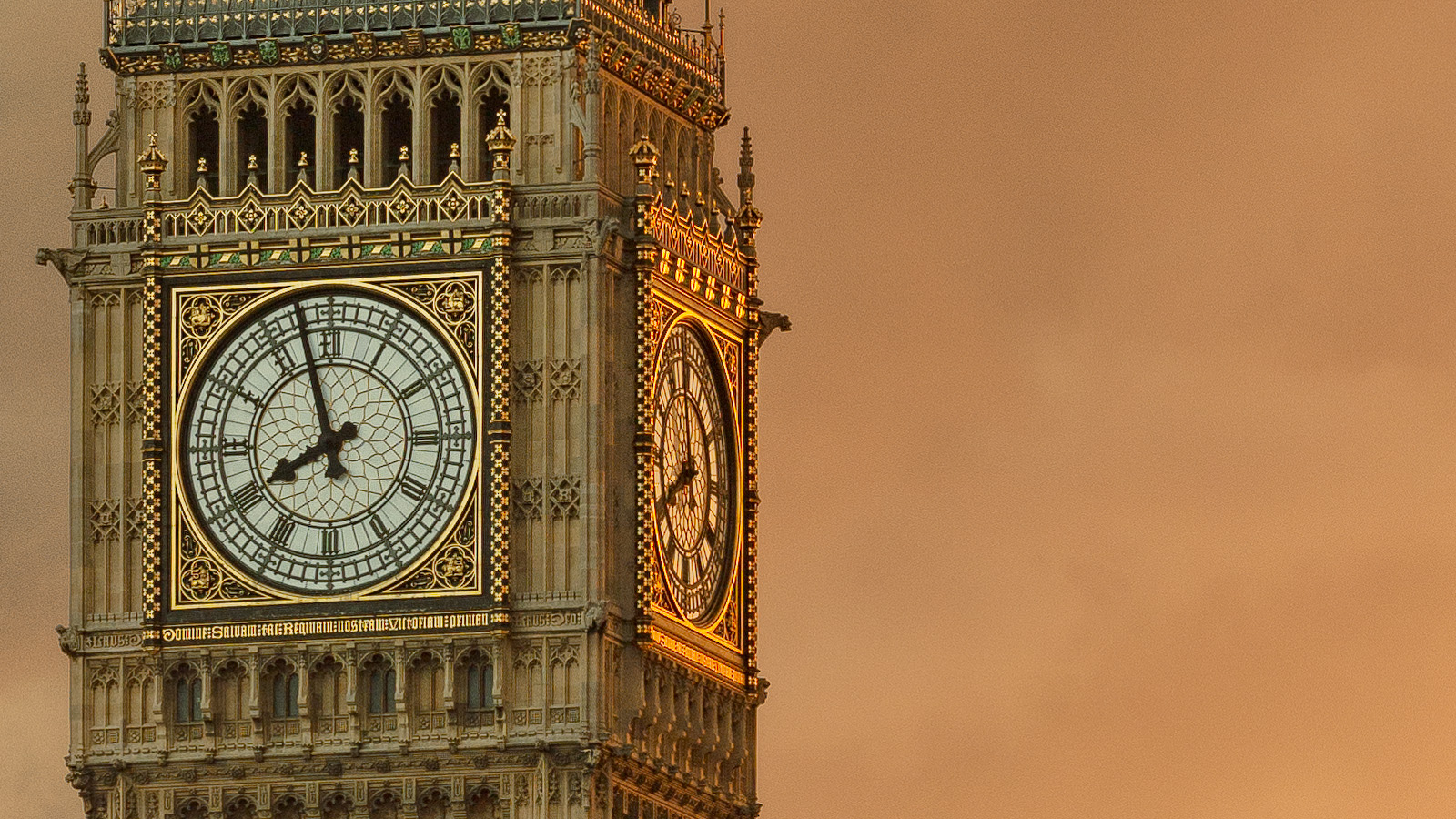 Palace Of Westminster Detail - Close up of Big Ben. London Fine Art Print.