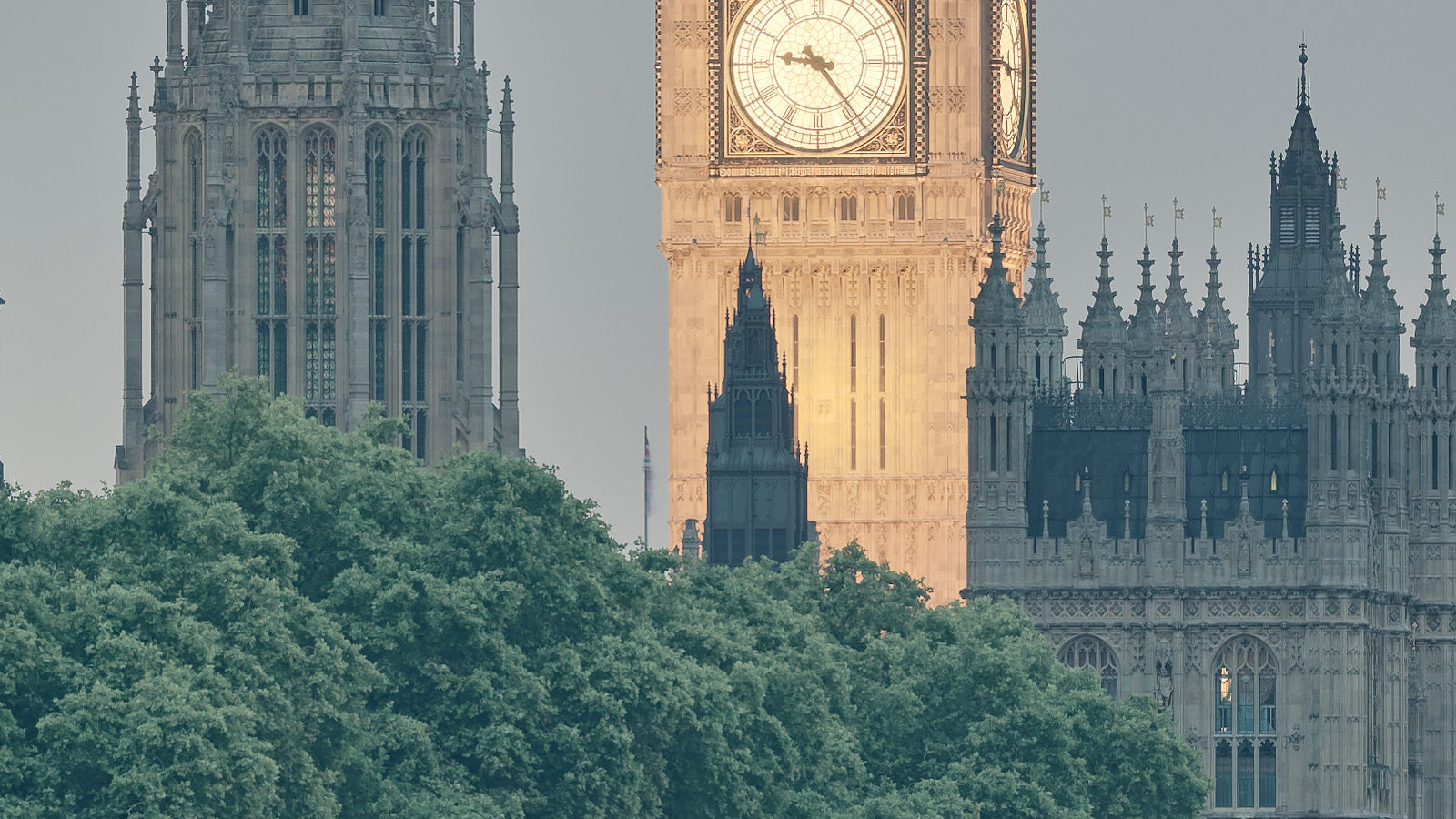 Lambeth Bridge Detail - Big Ben and the Houses of Parliament. London High-Res Fine Art Photography.