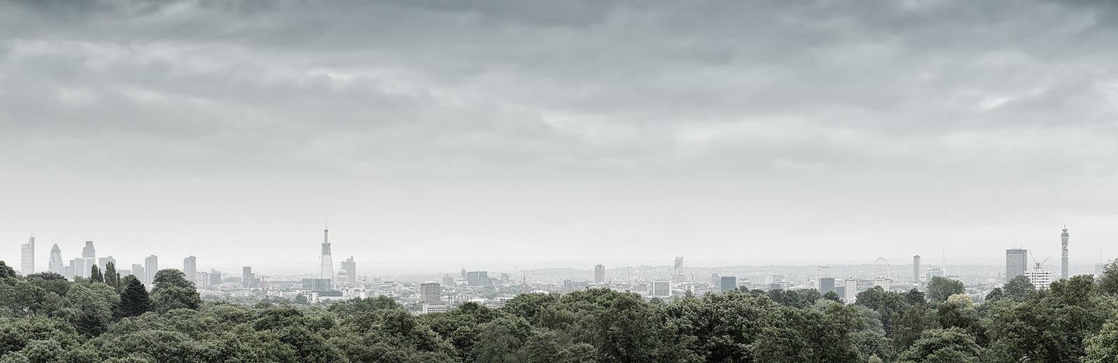 Hampstead Heath View 2010 - Hi-Res London Panoramic Photo Print