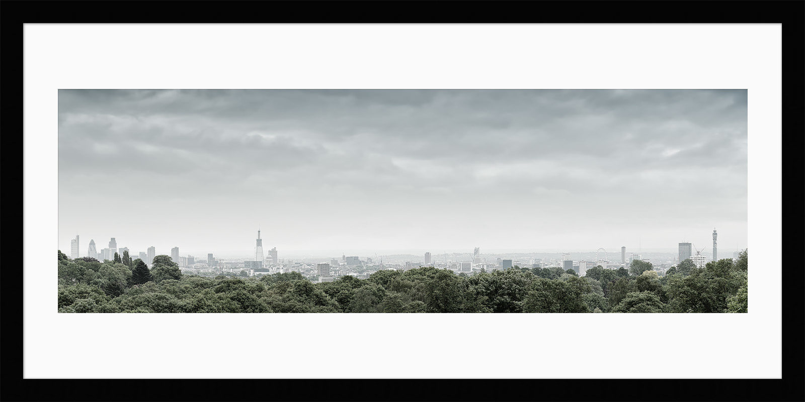 Hampstead Heath View 2010 - Framed Photo Print of London