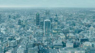 Infinitely London - City of London lighting up during blue hour. London Fine Art Large Format Photo Print.
