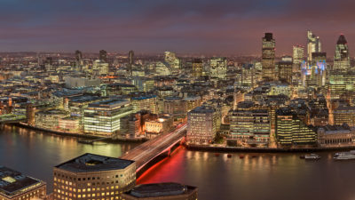Shard View Night - Night view of the City of London skyline. High-Res London Cityscape Fine Art Print.