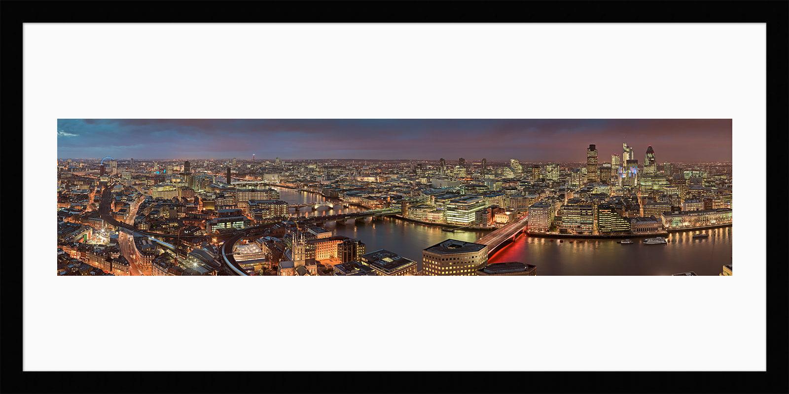 Shard View Night - Framed High-Res Fine Art Photograph