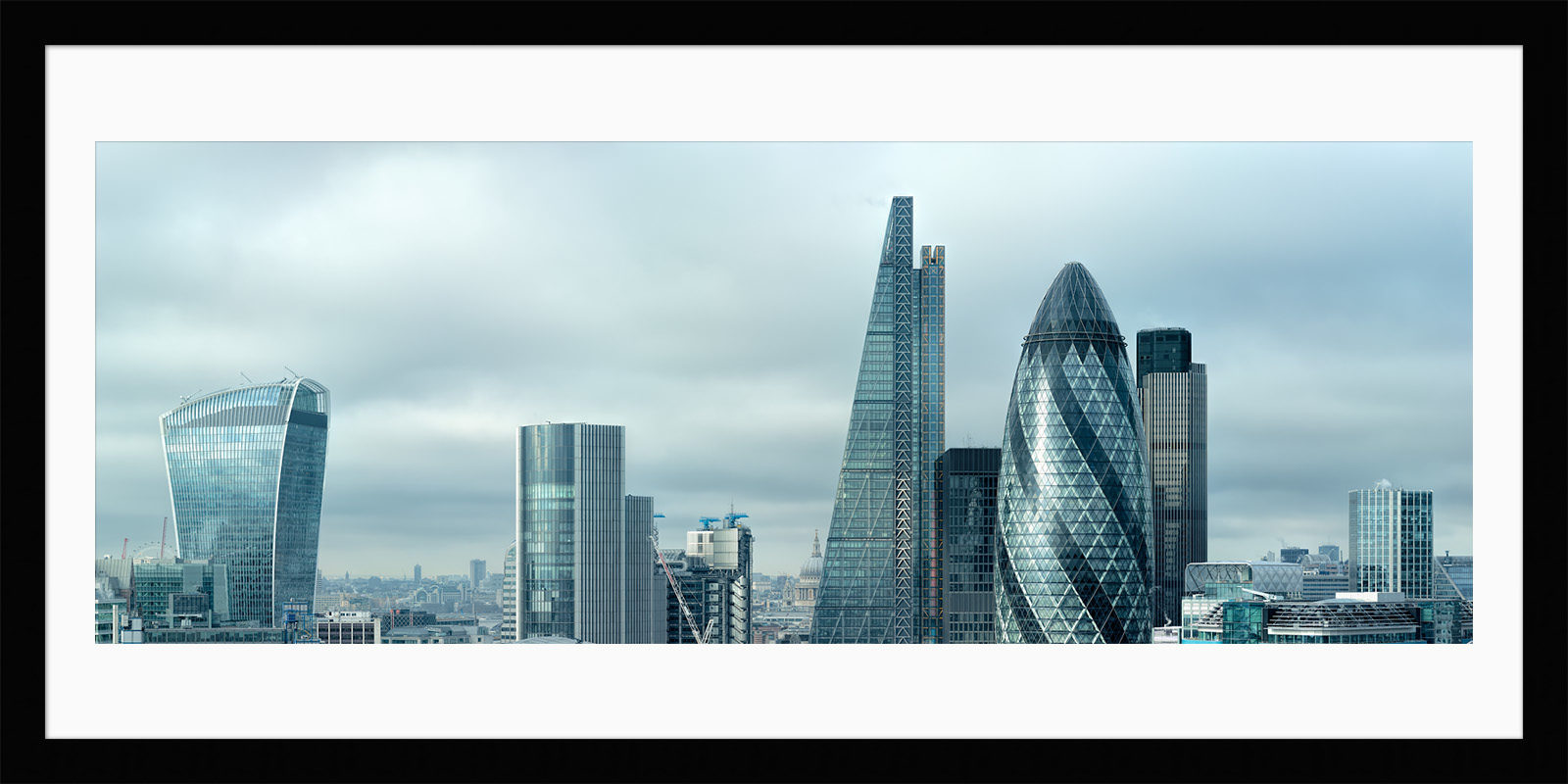 Silvered City - Framed London Large Format Fine Art Print