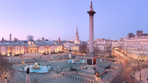 Trafalgar Square Twilight - London Fine Art Photograph of Trafalgar Square and Nelson's Column.