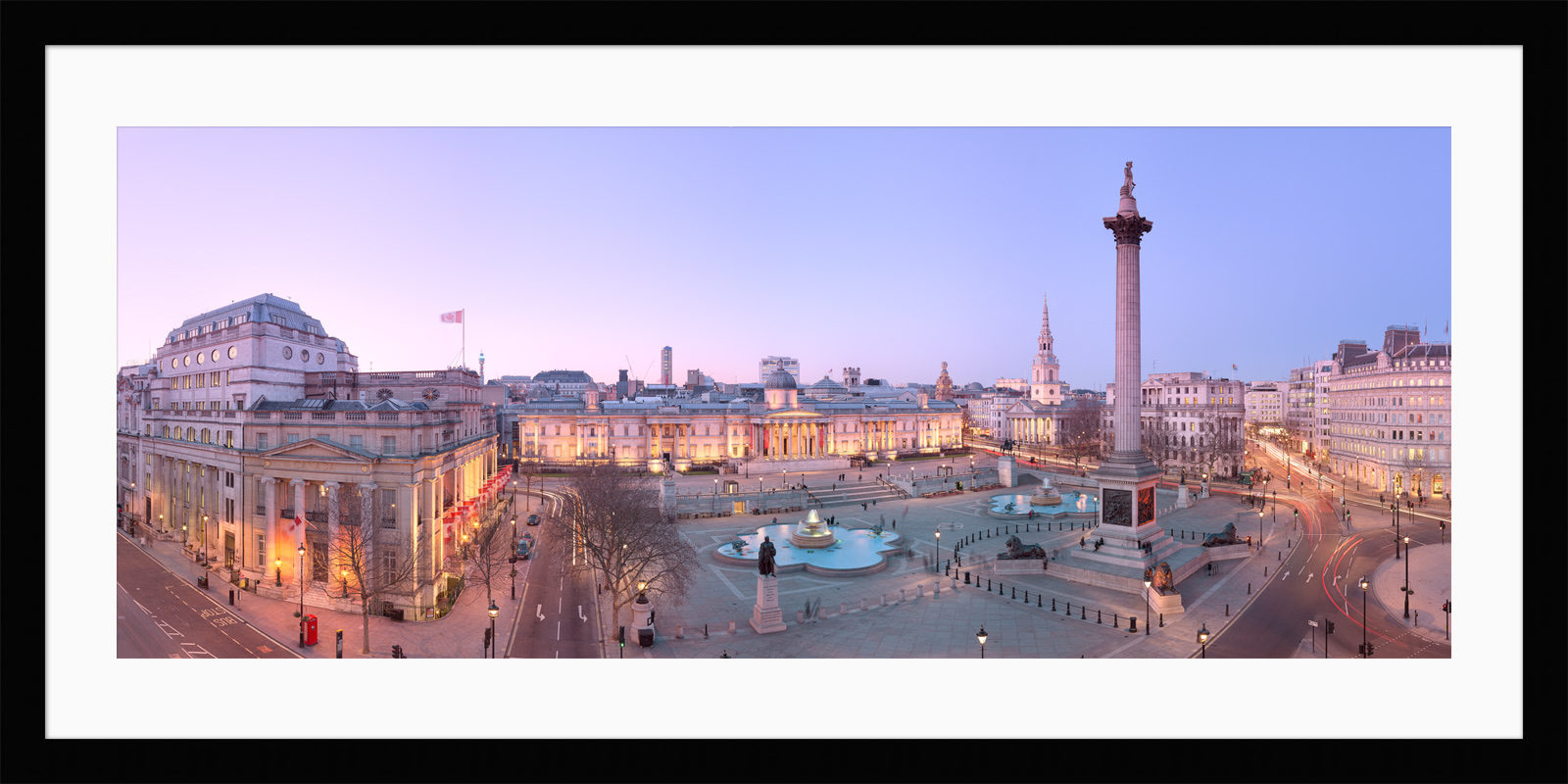 Trafalgar Square Twilight - Framed London Fine Art Photograph