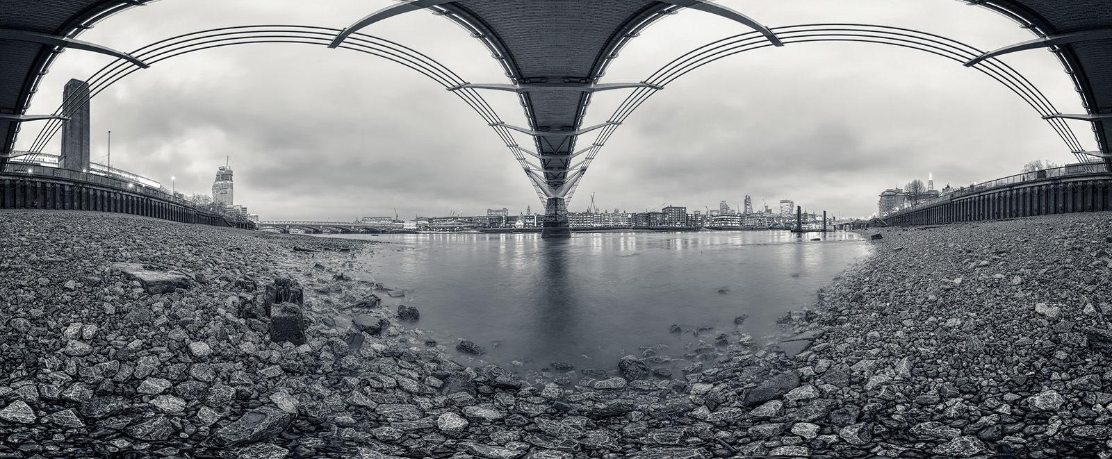 Under The Bridge Acrylic - London Black & White Fine Art Photo