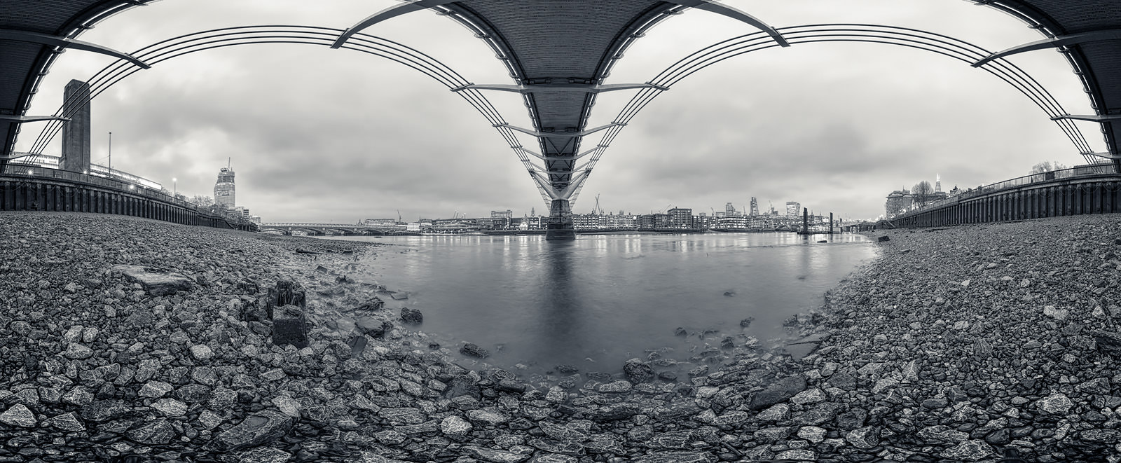 Under The Bridge Acrylic - London Black & White Fine Art Photo