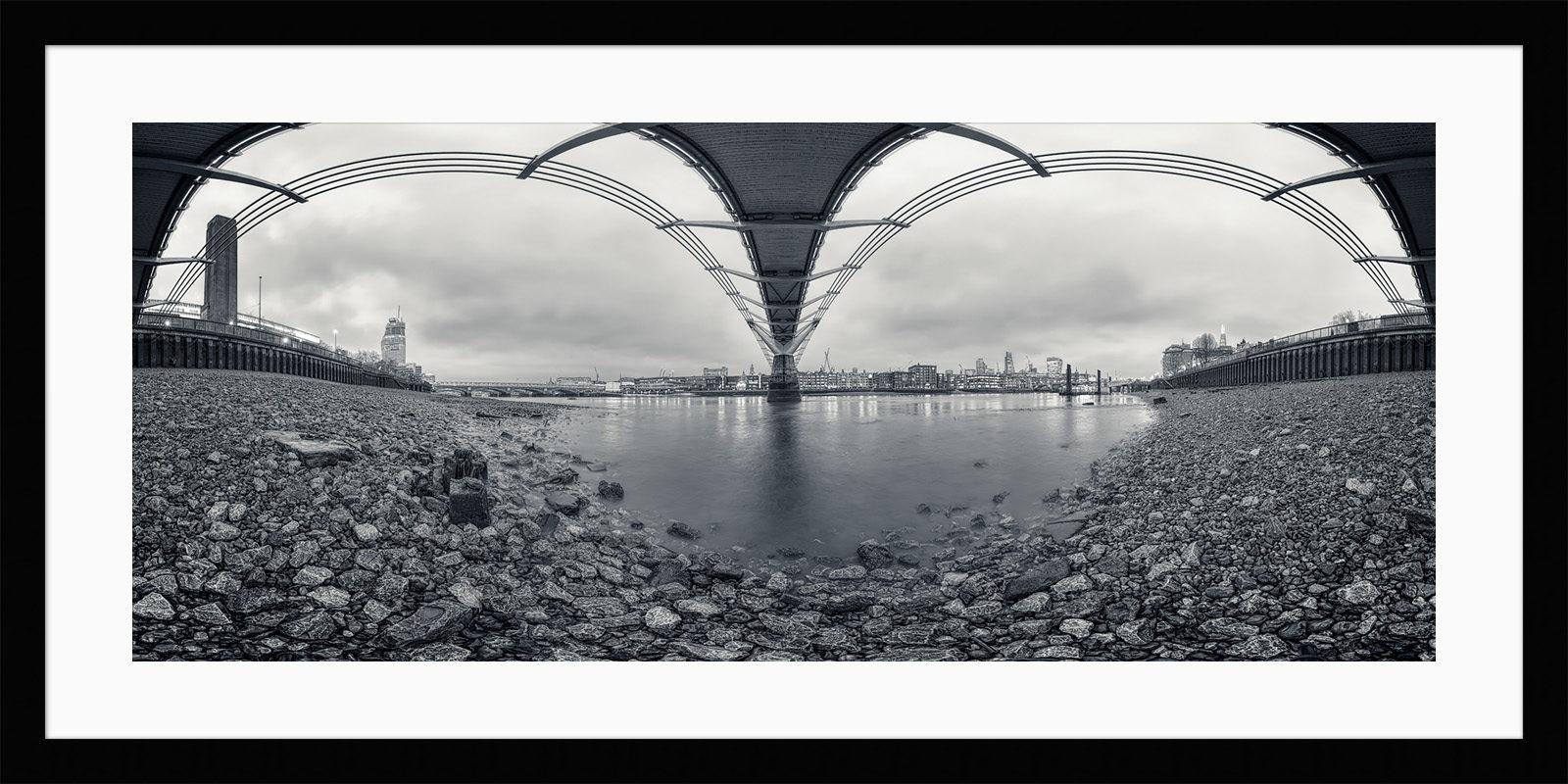 Under The Bridge - London Black & White Framed Fine Art Photography