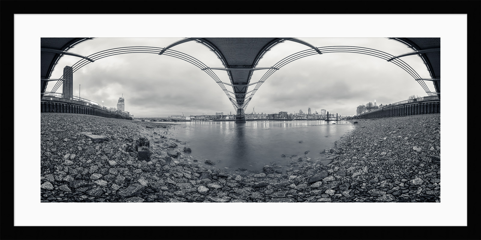 Under The Bridge - London Black & White Framed Fine Art Photography