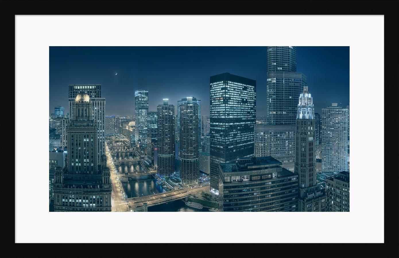 Along The Chicago River - Framed Fine Art High Resolution Cityscape Print