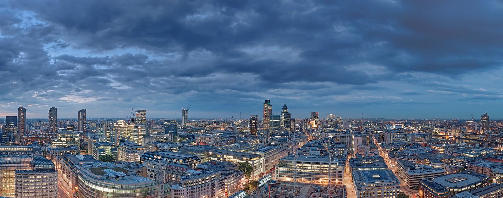 City Of London Night Falls Acrylic