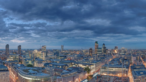 City Of London Night Falls - London Fine Art photographic print, museum quality archival standard.
