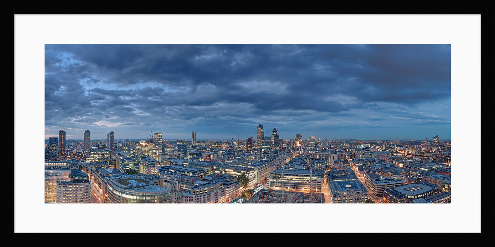 City Of London Night Falls - Framed Photo Print of London
