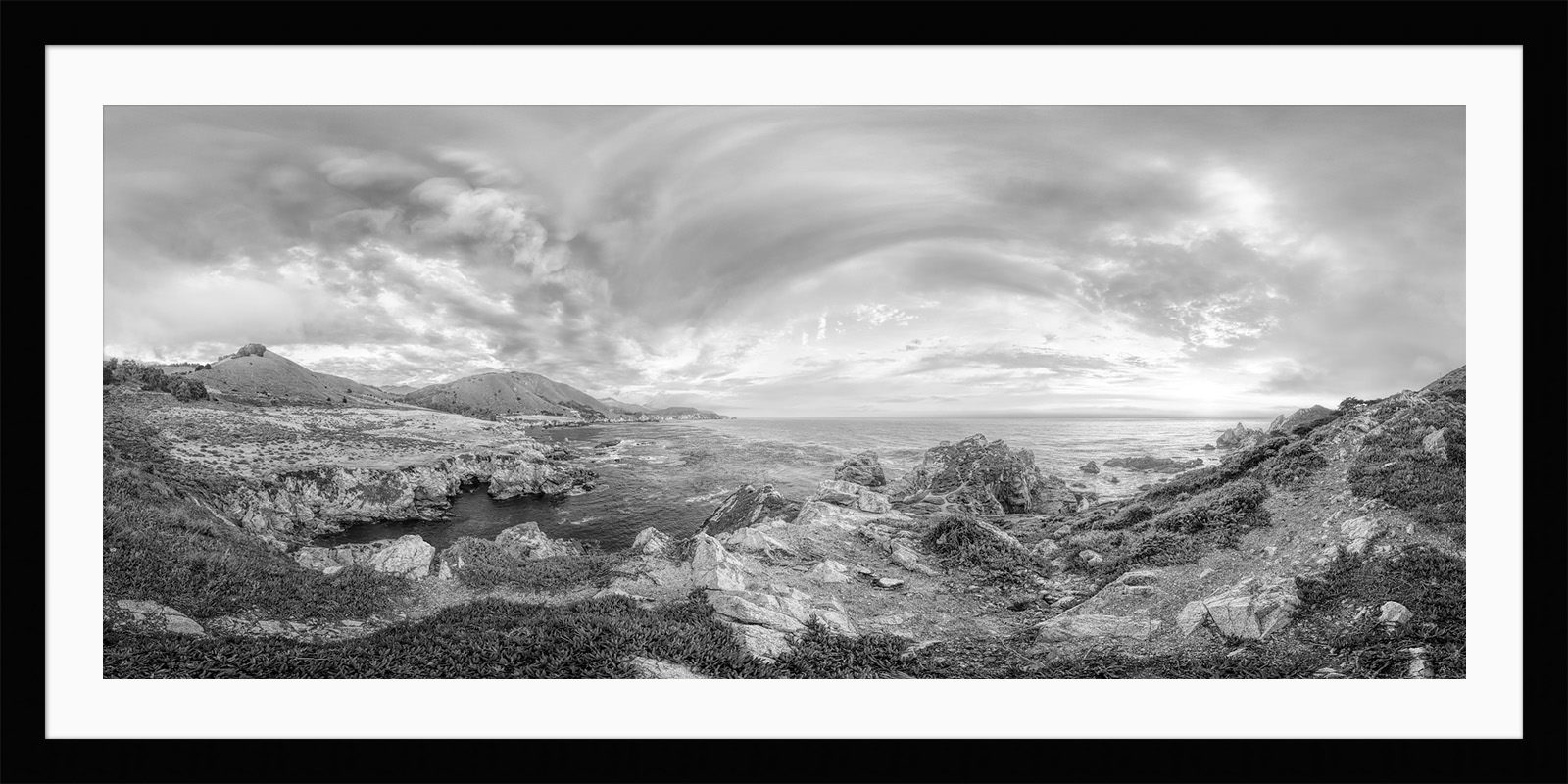Highway 1 - California Black & White Framed Fine Art Photography