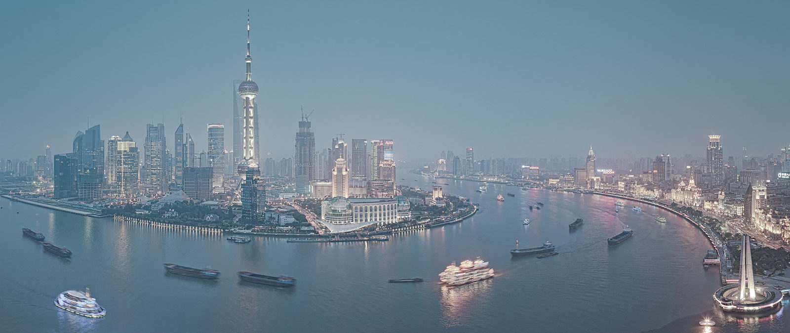 Huangpu River Acryllic - High-Res acrylic mounted Fine Art panoramic photo