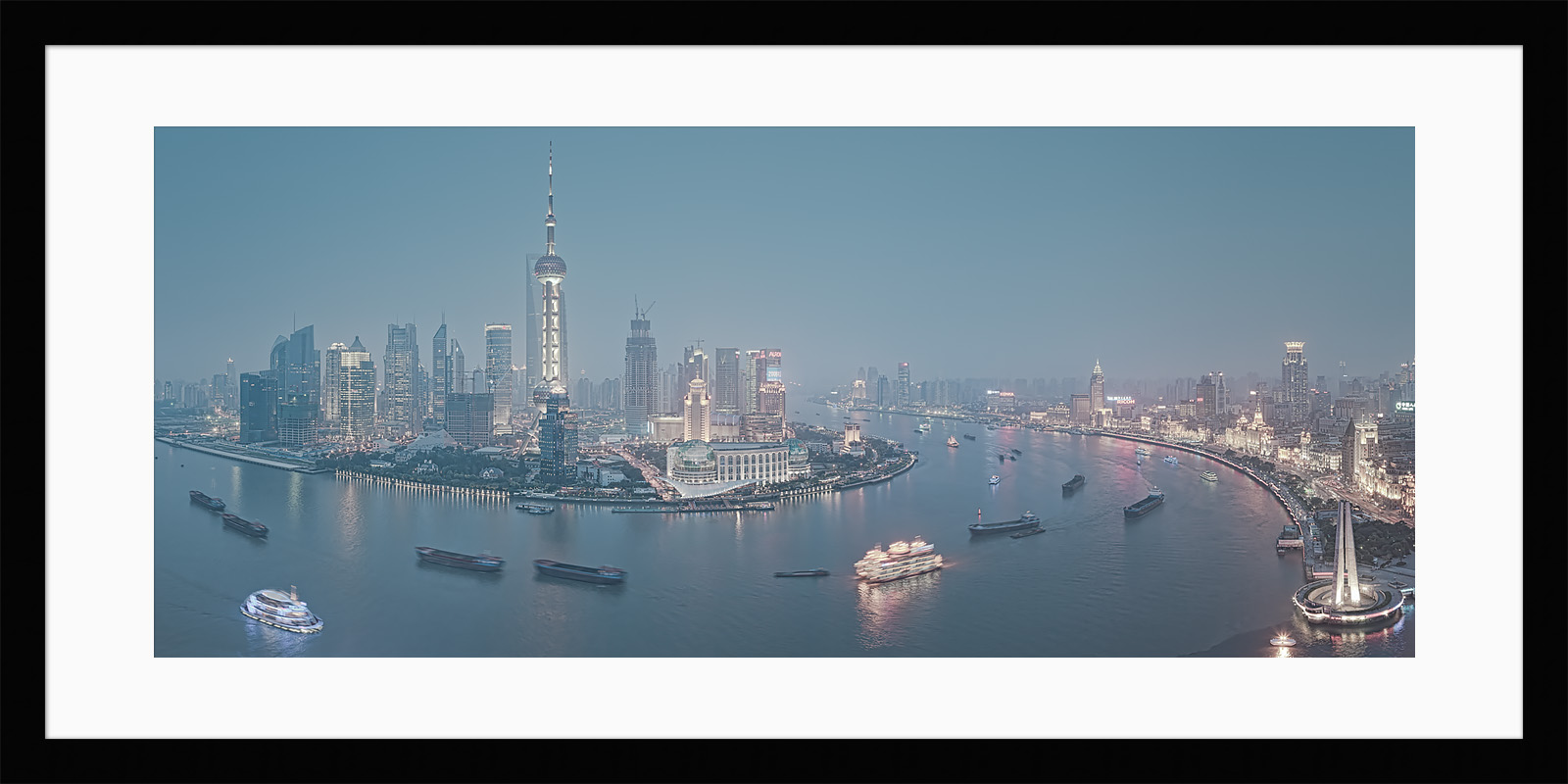 Huangpu River - Framed - China High Resolution Cityscapes