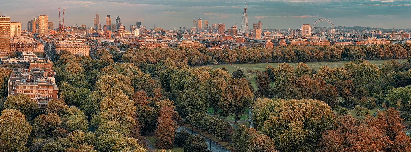 Hyde Park 2011 Acrylic - London hi-res panoramic ciyscape Fine Art Photo
