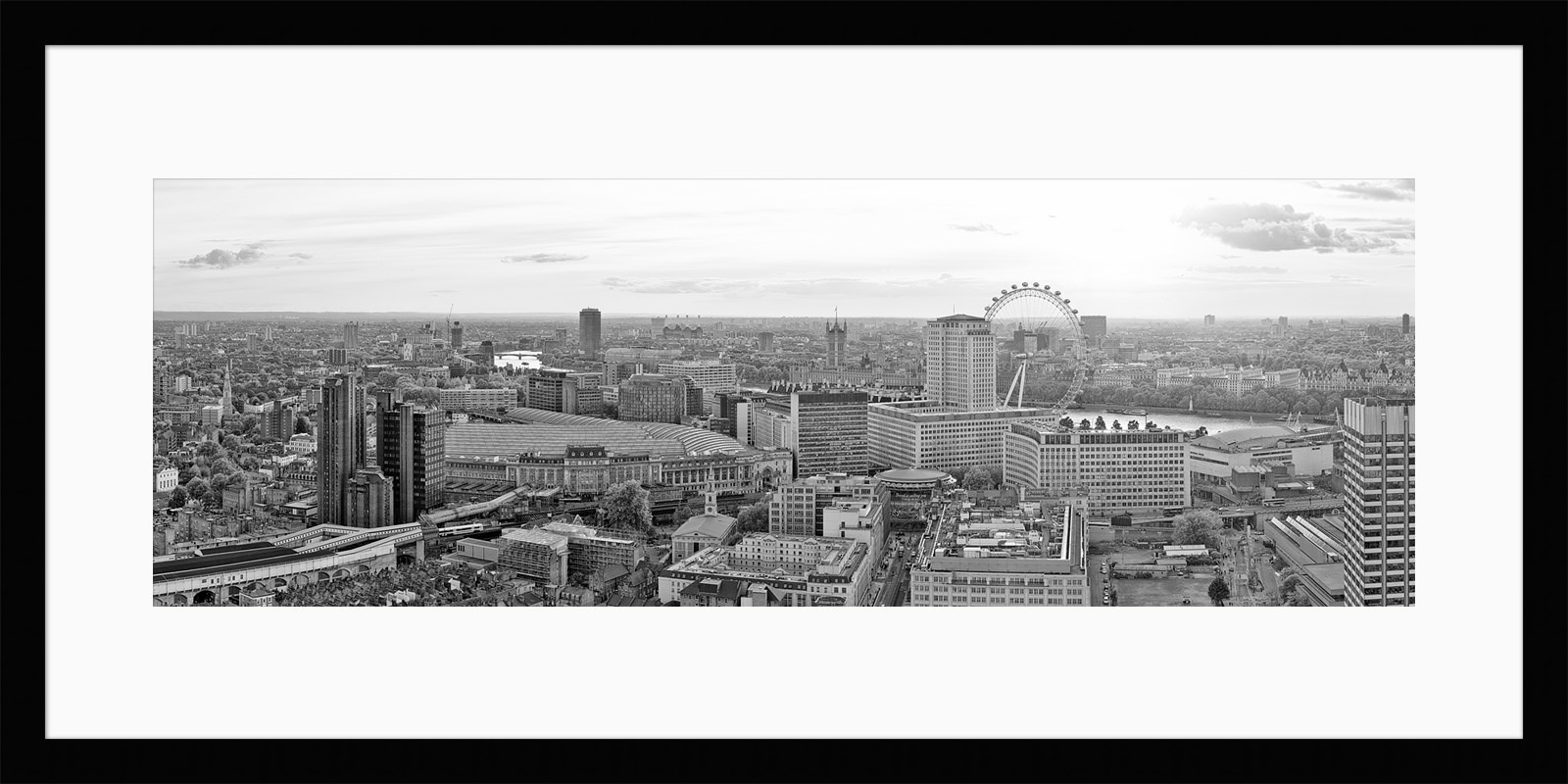 Sundown Over Waterloo B&W - London Fine Art Photograph
