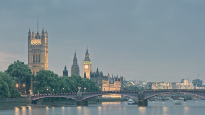 Lambeth Bridge - Fine Art Print of the The Palace of Westminster with Lambeth Brigde in the foreground.