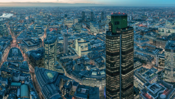 Leadenhall Building Night - High-Res Panoramic London Cityscape from the Leadenhall Building. London Fine Art Photograph.
