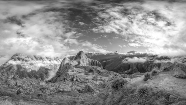 Machu Picchu - Peru, Fine Art Black & White Museum Quality Archival Photographic Print.