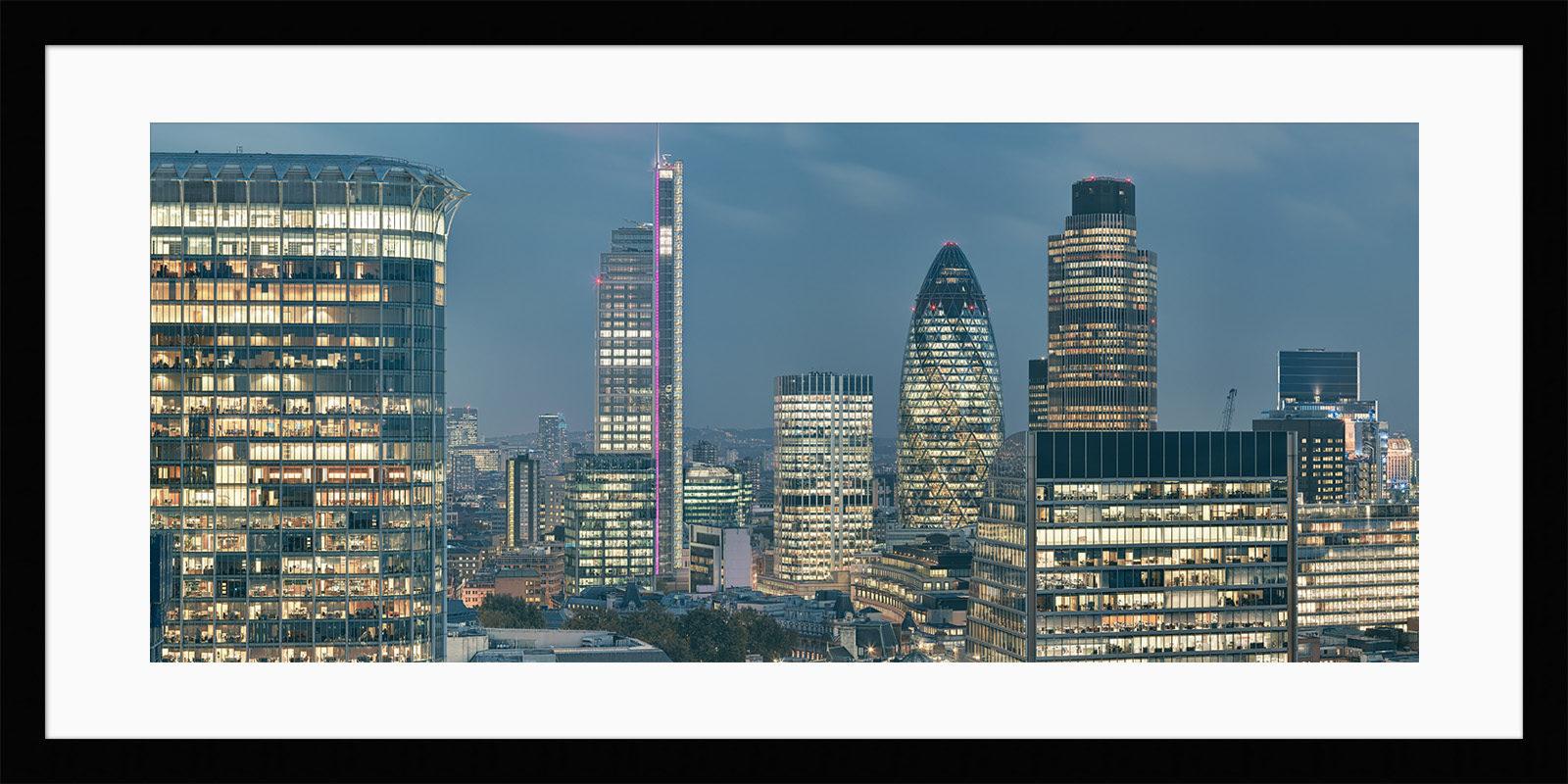 Nautical Twilight - Framed London Photo