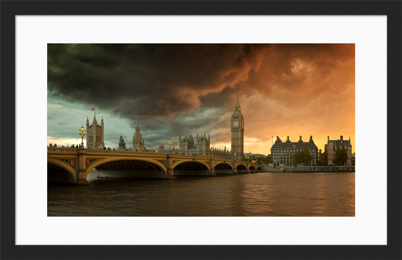 Palace of Westminster - Framed London Fine Art Print