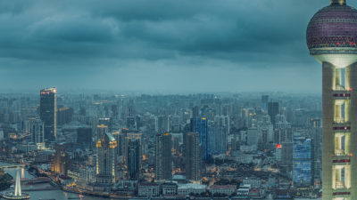Pudong View - Panoramic view of the Pudong district of Shanghai. High Resolution Cityscape Fine Art Print.