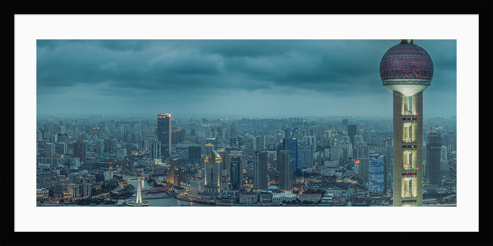 Pudong View - Shanghai High Resolution Fine Art Framed Cityscape Print