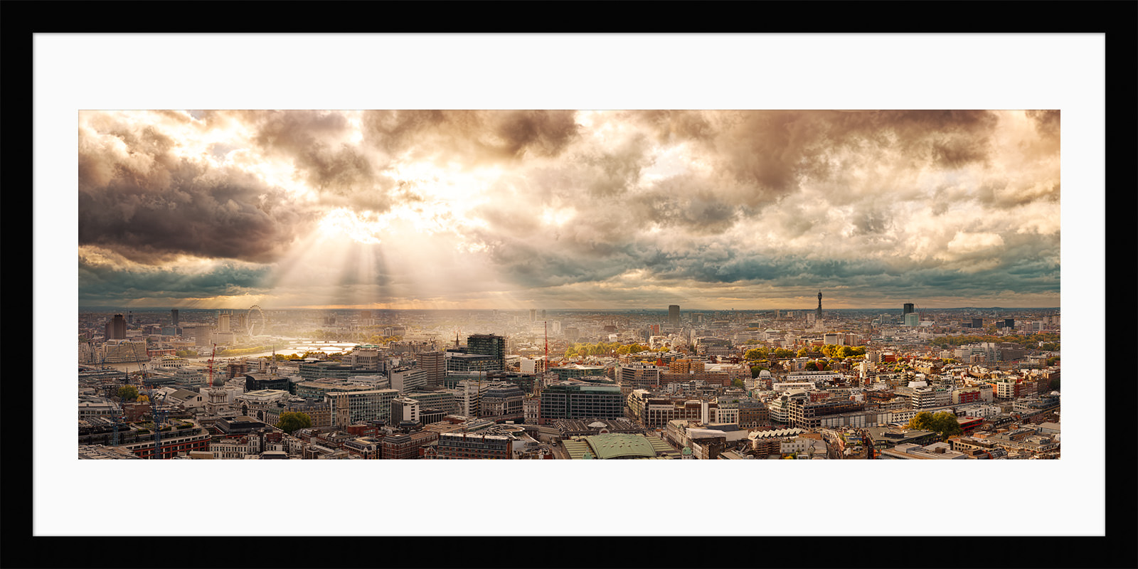 Rays Over London - Framed Photo Print of London