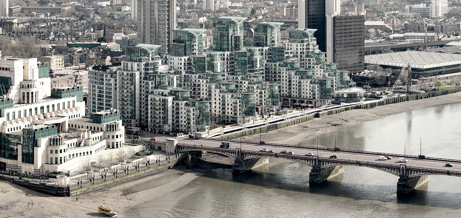 Vauxhall Bridge View Acrylic - London Fine Art Borderless Acrylic Mounted Photo