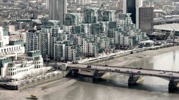 Vauxhall Bridge View - MI5 building, Vauxhall Bridge and the St. George Wharf Apartments. London Fine Art Photo.
