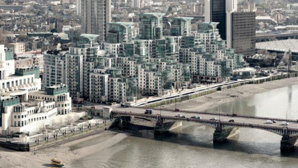 Vauxhall Bridge View - MI5 building, Vauxhall Bridge and the St. George Wharf Apartments. London Fine Art Photo.