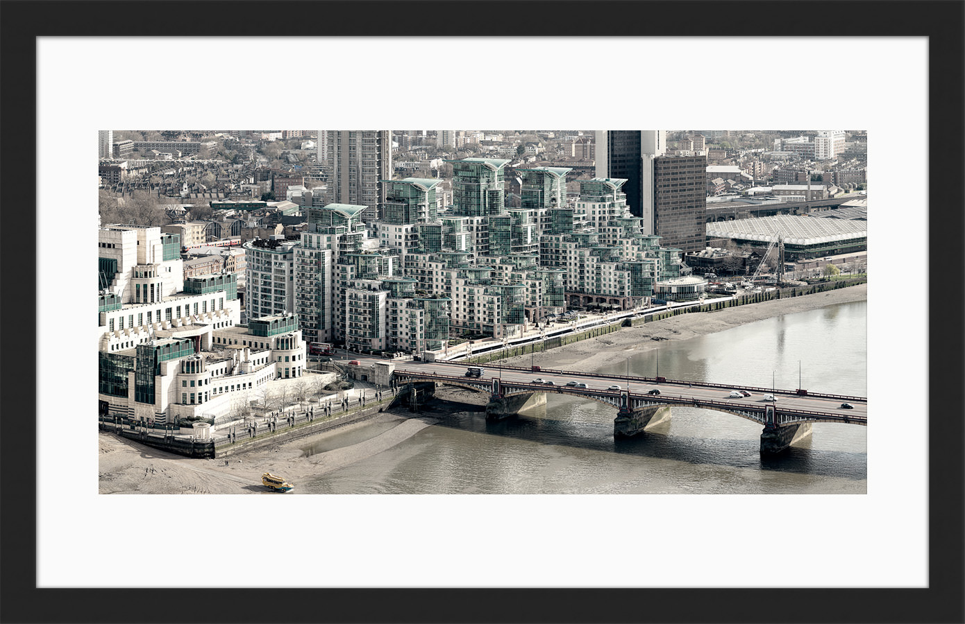 Vauxhall Bridge View - Framed Fine Art Print
