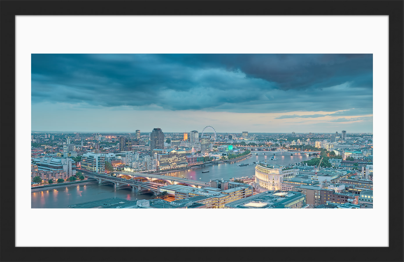 View From St Pauls 2009 - Framed London Fine Art Print