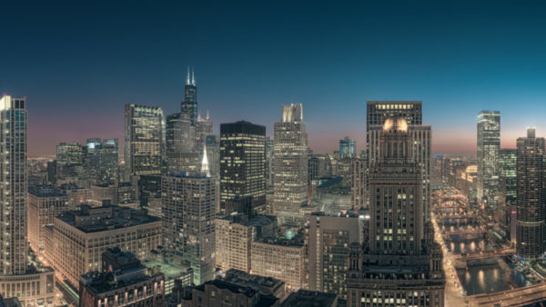 Sears Tower Skyline - High Resolution Chicago Cityscape, Fine Art Print.