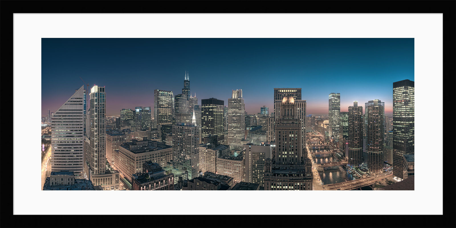 Sears Tower Skyline Framed - Chicago High Resolution Fine Art Cityscape