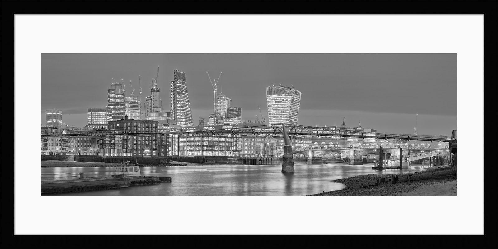 Low Tide at Millennium Bridge - Framed Fine Art Print