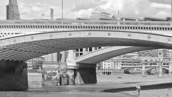 Mudlarking 1 - London Fine Art Black & White Photographic Print