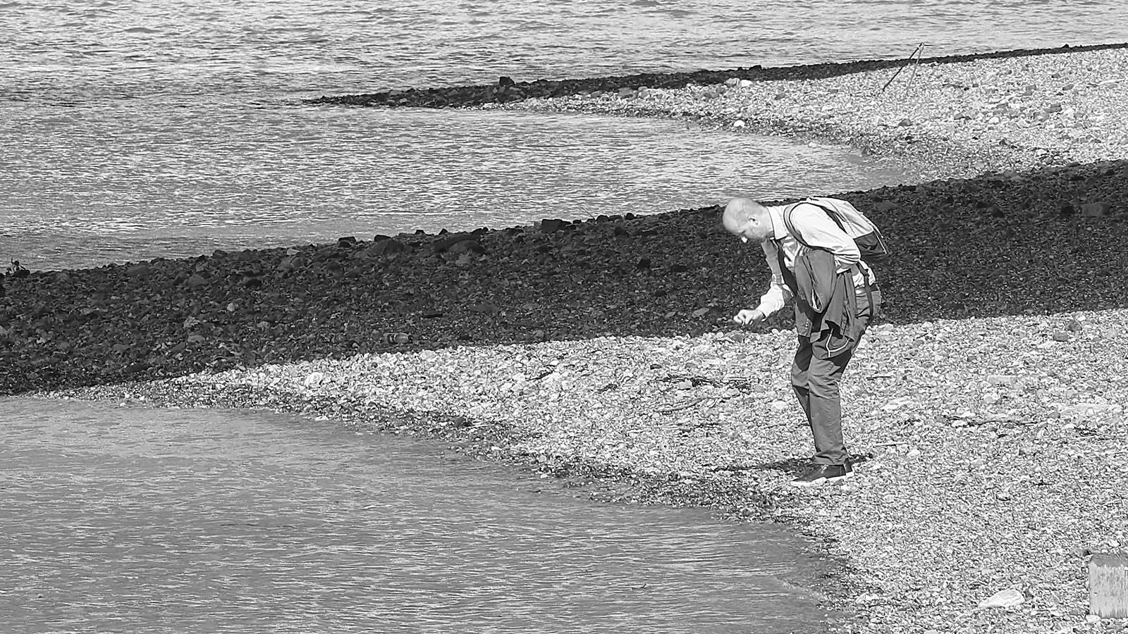 Detail of Mudlarking 1 - London Fine Art Black & White Photographic Print