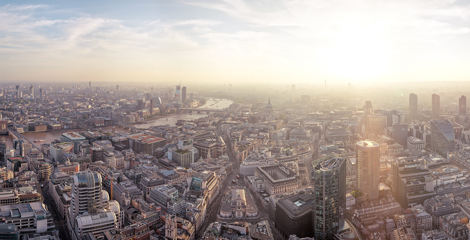Sundown Over West London Acrylic