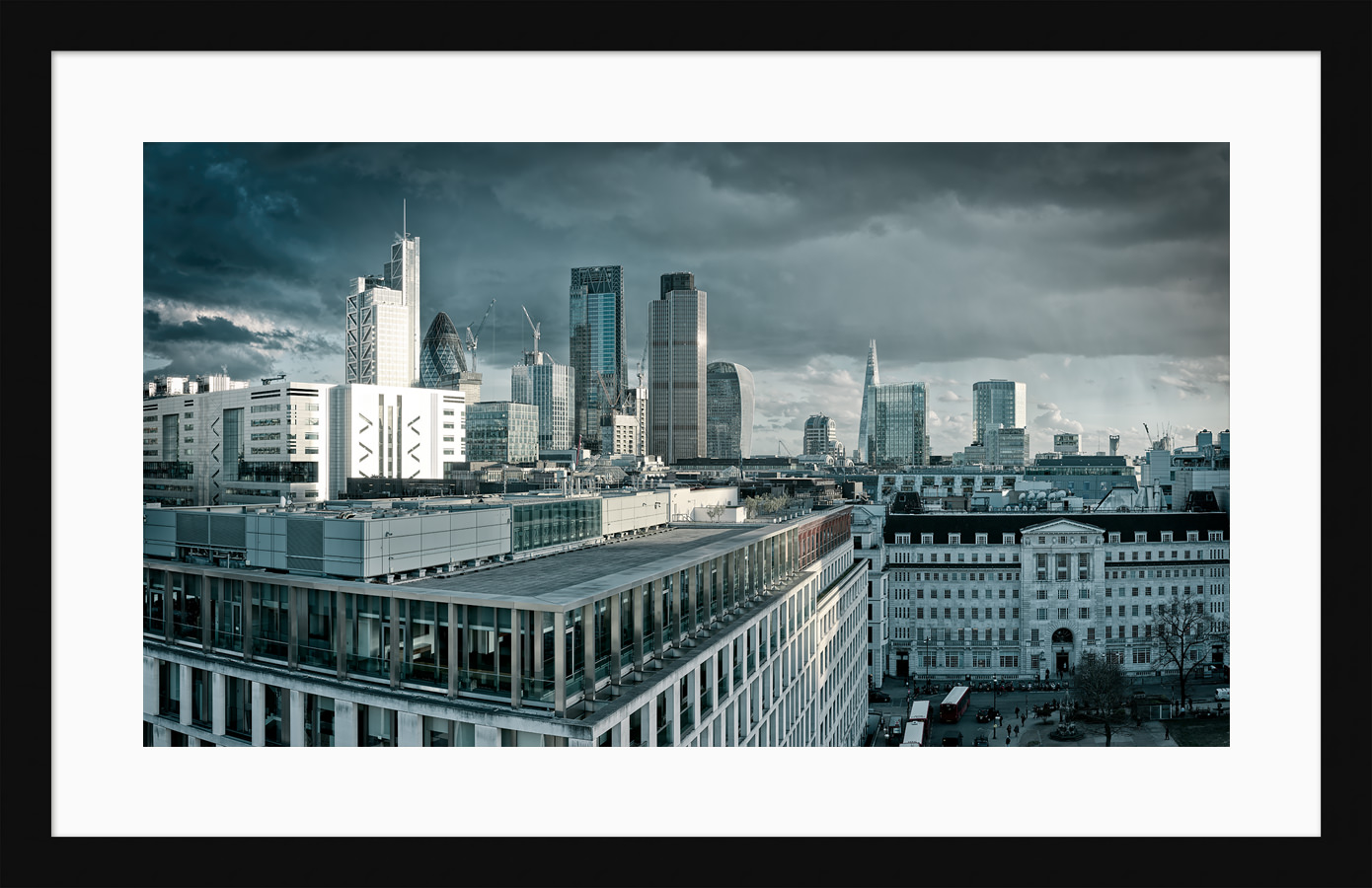 The City From Finsbury Square - Framed Fine Art Print