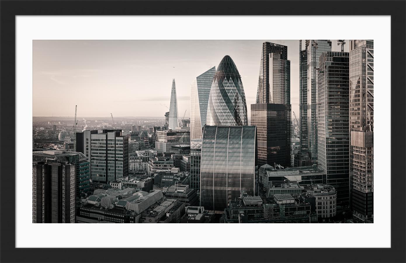 The City Awaits - Framed London Fine Art Photgraphic Print